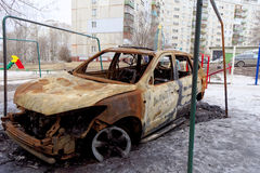 nizhny novgorod Ρωσία - 6 Απριλίου 2016 Μμένο αυτοκίνητο στο ναυπηγείο στοκ εικόνα με δικαίωμα ελεύθερης χρήσης