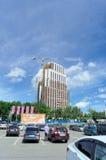nizhny novgorod Ρωσία - 26 Μαΐου 2016 Ατελής κατοικημένη σύνθετη πόλη Atlant στην οδό Rodionova κοντά στη λεωφόρο φανταστική Στοκ φωτογραφία με δικαίωμα ελεύθερης χρήσης