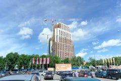 nizhny novgorod Ρωσία - 26 Μαΐου 2016 Ατελής κατοικημένη σύνθετη πόλη Atlant στην οδό Rodionova κοντά στη λεωφόρο φανταστική Στοκ Φωτογραφίες