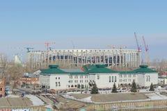nizhny novgorod Ρωσία - 14 Μαρτίου 2017 Περιφερειακή διοίκηση της επιθεώρησης ασφάλειας κρατικής κυκλοφορίας στην τράπεζα του riv Στοκ Φωτογραφία