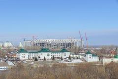 nizhny novgorod Ρωσία - 14 Μαρτίου 2017 Περιφερειακή διοίκηση της επιθεώρησης ασφάλειας κρατικής κυκλοφορίας στην τράπεζα του riv Στοκ Φωτογραφίες