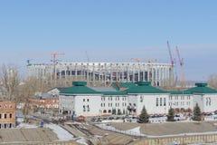 nizhny novgorod Ρωσία - 14 Μαρτίου 2017 Περιφερειακή διοίκηση της επιθεώρησης ασφάλειας κρατικής κυκλοφορίας στην τράπεζα του riv Στοκ Εικόνες