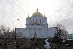 nizhny novgorod Ρωσία - 24 Μαρτίου 2017 Το Annunciation μοναστήρι σε Nizhny Novgorod Μια άποψη της εκκλησίας Alekseevskaya από το Στοκ Εικόνες