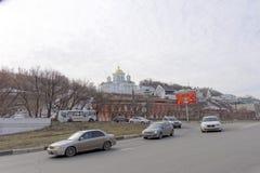 nizhny novgorod Ρωσία - 24 Μαρτίου 2017 Το Annunciation μοναστήρι σε Nizhny Novgorod Μια άποψη της εκκλησίας Alekseevskaya από το Στοκ φωτογραφίες με δικαίωμα ελεύθερης χρήσης