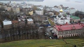 Nizhny Novgorod, Россия -02 11 2015 Взгляд сверху  сток-видео