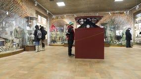 Nizhny Novgorod, Россия -02 11 2015 Выставка в башне Nikolskaya Кремля Стоковые Фотографии RF