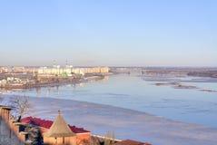 Nizhny Novgorod 都市的横向 免版税库存照片