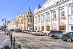 Nizhny Novgorod 都市的横向 免版税库存图片