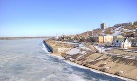 Nizhny Novgorod 都市的横向 图库摄影