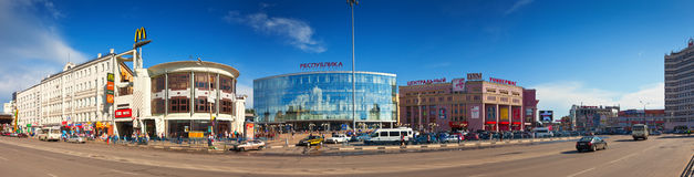 Nizhny Novgorod -革命正方形视图  库存照片