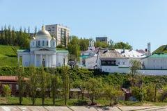Nizhny Novgorod Alekseevskaya-Kirche und die Ankündigung Monas stockfoto