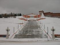 Nizhny Novgorod Chkalov trappa Fotografering för Bildbyråer