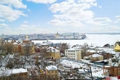 Nizhny Novgorod cityscapes immagine stock libera da diritti