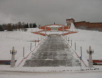 Nizhny Novgorod Escaliers de Chkalov Image stock