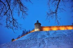 Nizhny Novgorod fortress at winter Stock Photography
