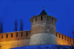 Nizhny Novgorod fortress at winter Royalty Free Stock Photos