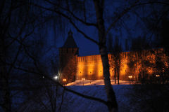 Nizhny Novgorod fortress at winter Stock Image