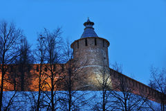 Nizhny Novgorod fortress at winter Stock Photos