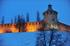 Nizhny Novgorod fortress at winter Stock Images