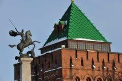 Nizhny Novgorod fortress at winter Royalty Free Stock Photos