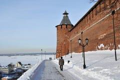 Nizhny Novgorod fortress at winter Stock Photo