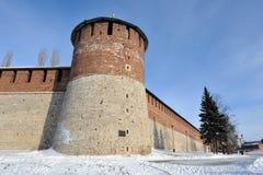 Nizhny Novgorod fortress at winter Stock Photos