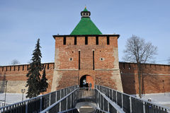 Nizhny Novgorod fortress at winter Stock Photography