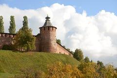 Nizhny Novgorod het Kremlin stock afbeeldingen