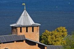 Nizhny Novgorod Kremlin. White tower of Nizhny Novgorod Kremlin, Russia Royalty Free Stock Photo