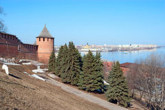 Nizhny Novgorod kremlin Royalty Free Stock Photos