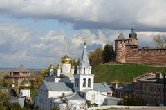 Nizhny Novgorod Kremlin and church Royalty Free Stock Photography
