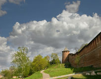 Nizhny Novgorod kremlin Torre de Borisoglebskaya Fotografia de Stock Royalty Free