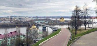 Nizhny Novgorod, mola adiantada Foto de Stock Royalty Free