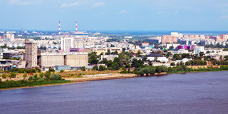 Nizhny Novgorod with Oka river Royalty Free Stock Photo