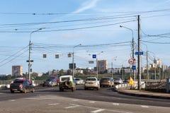 Nizhny Novgorod Ponte de Kanavinsky após o reparo Fotos de Stock