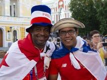 Nizhny Novgorod, Rússia 24 de junho de 2018: os fan de futebol vieram a Nizhny Novgorod para o campeonato do mundo Inglaterra - P foto de stock royalty free