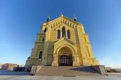 Nizhny Novgorod, Rússia - 16 de novembro 2018 A catedral de Alexander Nevsky fotografia de stock