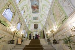 Nizhny Novgorod, Rússia - 03 11 2015 O interior da propriedade Rukavishnikov do museu Fotos de Stock Royalty Free