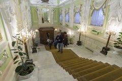 Nizhny Novgorod, Rússia - 03 11 2015 O interior da propriedade Rukavishnikov do museu Imagens de Stock Royalty Free