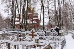 NIZHNY NOVGOROD ROSJA, LISTOPAD, - 07, 2016: Ortodoksalny Stary wierzącego kościół wniebowzięcie matka bóg Fotografia Royalty Free
