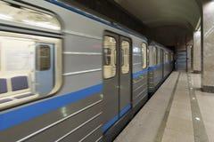 Nizhny Novgorod, ROSJA - 02 11 2015 Opróżnia pociąg Zdjęcia Stock