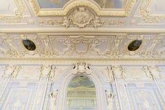 Nizhny Novgorod, Rosja - 03 11 2015 Sufit sala balowa w muzealnej nieruchomości Rukavishnikov Obraz Royalty Free