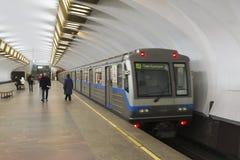 Nizhny Novgorod, RUSIA - 02 11 2015 El tren Fotografía de archivo