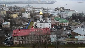 Nizhny Novgorod, Rusland -02 11 2015 Hoogste mening van stock footage