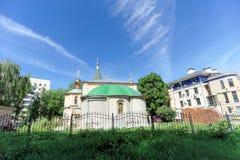 Nizhny Novgorod, Rusland - 30 juni 2016 Tempel van Lof van Heilig Virgin op Zalomov-straat 21A Royalty-vrije Stock Fotografie