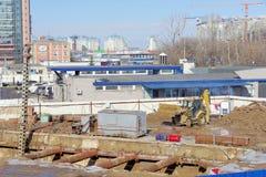 Nizhny Novgorod, Rusland - 14 maart 2017 Bouw van het metro Vierkant van postlenin Stock Afbeeldingen