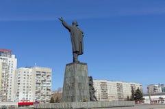 Nizhny Novgorod, Rusland - 14 maart 2017 Het monument aan Vladimir Ilyich Lenin op het Vierkant van Lenin Royalty-vrije Stock Afbeelding