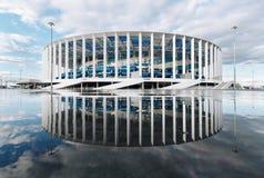 Nizhny Novgorod, Rusland - Maart, 2018 - het Stadion van Nizhny Novgorod voor de Wereldbeker van FIFA van 2018 Royalty-vrije Stock Afbeelding
