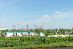 Nizhny Novgorod, Rusland - 19 mei 2016 Bouw van het stadion in Nizhny Novgorod aan de Wereldbeker 2018 van FIFA Stock Foto's
