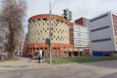 Nizhny Novgorod, Russia. - April 26.2016. Abandoned unfinished building multi-level car park on the street Izhora. Nizhny Novgorod, Russia. - April 26.2016 Royalty Free Stock Photos